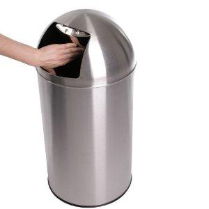 Stainless steel Push waste bins