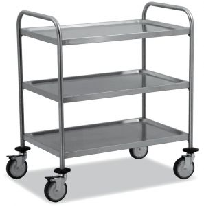 TEC1101 AISI 304 stainless steel Cart Technical 3 shelves 80x50x95h