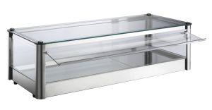 Vetrina espositore da banco neutra  1 PIANO in lamiera di acciaio inox Dimensioni Cm L87xP37x24 H Modello VKB81N