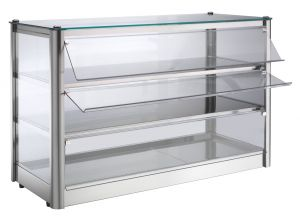 VKB83R Counter top display cabinet Hot 3 FLOORS made of stainless steel sheet