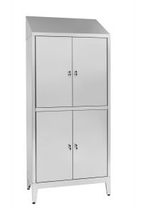 IN-S50.694.06 Multi-storey cupboard in 4-seater 4-seater Aisi 304 stainless steel with dirty / clean partition Cm. 95X50