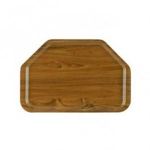 AV4587 Hexagonal tray teak 52x34,5