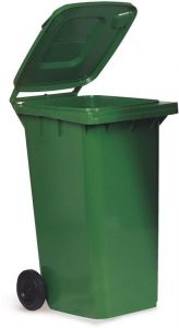 AV4676 Green dustbin 2 wheels 100 liters