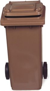 AV4679 Brown dustbin 2 wheels 100 liters