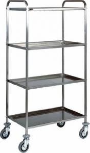 CA 1381 Stainless steel service trolley 4 shelves 111x57x172h