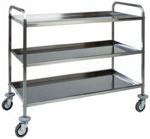CA 1384 Stainless steel trolley 3 shelves 91x57x96h