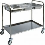 TCA 1386 Stainless steel trolley for gastronorm bacs 77x62x97h