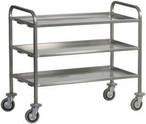 CA 1394P Stainiess steel service trolley heavy trantrasport 200 Kg 2 shelves 92x67x98h