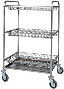 CA1399 Carrello scolapiatti acciaio inox 3 piani scolapiatti