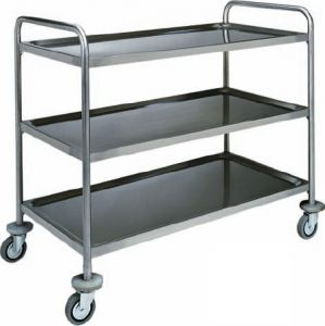 CA 1415 Stainless steel service trolley 3 shelves load 100 kg  100x70x104h