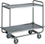 TCA 1430 Stainless steel trolley tubolar 2 floors 110x60x100h