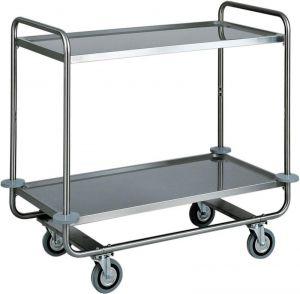 CA 1430 Stainless steel trolley tubolar 2 floors 110x60x100h