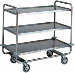 TCA 1431 Stainless steel trolley tubolar 3 floors 110x60x100h