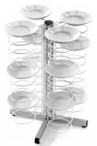 CA1435G  Lunch counter dish holder 48 plates Ø25/31Painted grid