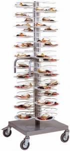 CA1439G  Dish cart Capacity 96 plates Ø25/31Polished racks