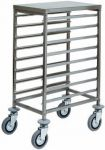 TCA 1478 Stainless steel GN pan trolley 8 GN1/1
