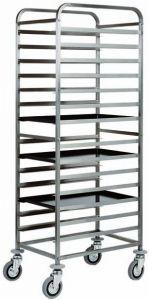 CA1482 Stainless steel Bakery tray rack trolley 14 board 60x40