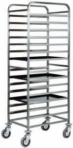 CA1482T20 Stainless steel Tray rack trolley for bakeries 20 board 60x40