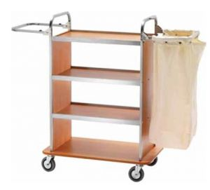 CA1510  Laundry cleaning multipurpose cart 2 Folding sack-holders