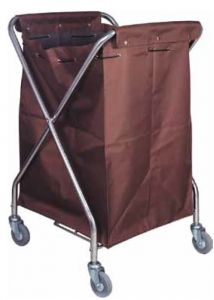 CA3203 Folding laundry trolley with cloth bag on wheels