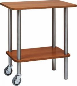 CA 901 2RW Gueridon trolley WENGE' 2 wheels 2 feet fixed 70x50x78h