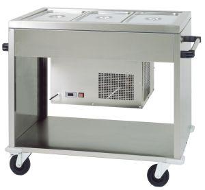 TCAR 2779 Carrello refrigerato in acciaio inox (+2°+10°C) 3 GN1/1 124x72x94h