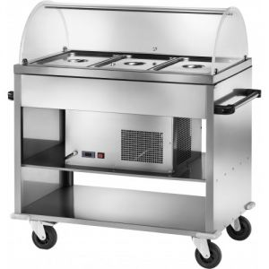 CAR2780BT Stainless steel Refrigerated trolley -5° +5°C 3 GN1/1 Cover plx