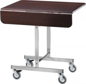 CB970W Breakfast cart on wheels rectangular Wengé