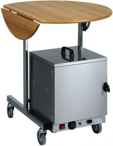 CB980W Breakfast trolley Wengé oval