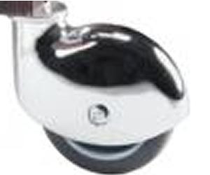 CC Kit 4 Ruote cuffia cromata solo come accessorio carrelli