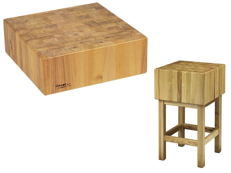 Tccl ceppo legno professionale spessore cm con sgabello