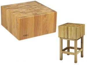 CCL2564 Ceppo legno 25cm con sgabello 60x40x90h