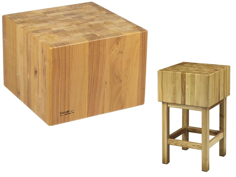 Tccl 3555 ceppo legno 35cm con sgabello 50x50x90h