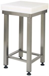 CCP8003 8cm polyethylene block with 60x60x88h stainless steel stool