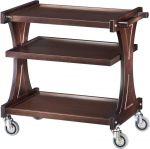 TCL 2150W Carrello servizio legno Wengé 3 piani 86x55x85h
