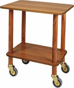 CL 903 Cart gueridon walnut wood 70x50x78h