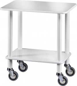 CL 903B Gueridon Cart White polish varnished 70x50x78h