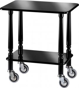 CL 903N Gueridon Cart Black polish varnished 70x50x78h