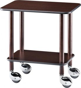 CL 903W Cart gueridon wenge wood 70x50x78h