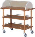 TCLC 2013 Wooden trolley 3 shelves Plexiglas dome