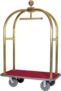 TPV 2001 Luggage cart and hangers Brass steel