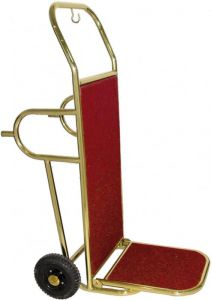 PV2002 Luggage cart Brass steel 2 wheels with support feet