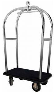 TPV 2021I Luggage trolley with stainless steel clothing stands pneumatic wheels