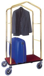 PV4055 Luggage and clothing stands cart Brass steel