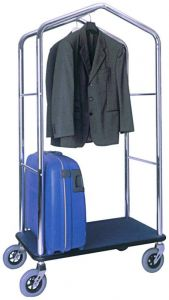 TPV 4056 Luggage and clothing stand trolley in chromed steel