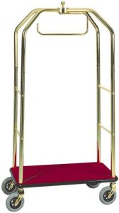 TPV 4062 Trolley luggage rack and hangers Brass steel