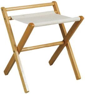 TRE 4016 Luggage rack beech wood rack cotton cloth with side-wall