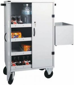 CR1696 Carrello rifornimento frigo-bar armadiato 80x50x118h