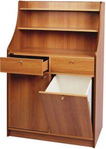 ML3150STW High service double cabinet 1 door 1 WENGE Tinta hopper