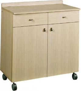 ML 3202SS Service cabinet low oak double wheels